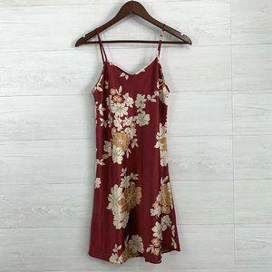 ⚜️ 4/$25 SALE! Satin Feel Red Floral Tank PJ Slip